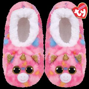 Ty Plush - Slippers - Fantasia the Unicorn (Size: 36-38)