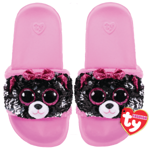 Ty Plush - Sequin Slides - Kiki the Cat (Size: 36-38) (TY95660)