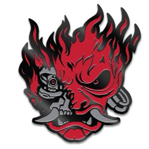 Cyberpunk 2077 Samurai Demon Pin Red/Black