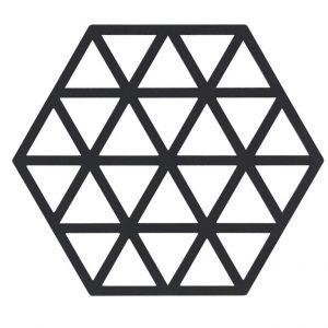 Zone - Triangles Trivet 2 Pack - Black