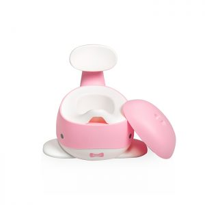 Babytrold - Baby Whale Potty - White and Pink