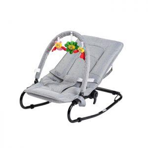 Babytrold - Bouncing Chair w. Toys - Grey
