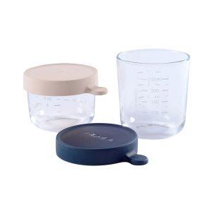 Béaba - Storage Glass- 2 Psc - Pink/Blue