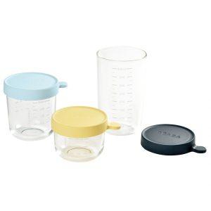 Béaba - Storage Glass- 3 stk - Blå