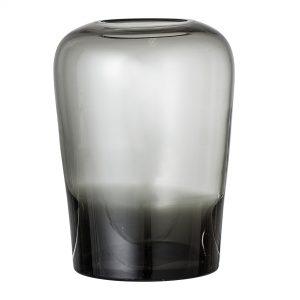 Bloomingville - Glass Vase Ø 13,5 cm - Grey (32122879)
