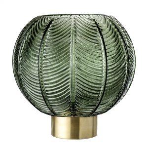Bloomingville - Glass Vase Ø 20 cm - Green (30704816)