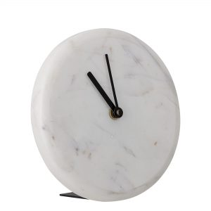 Bloomingville - Marble Table Clock Ø 16 cm - White (82049060)