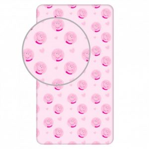 Fitted sheet - 90x200 cm - Peppa Pig (PEP053)