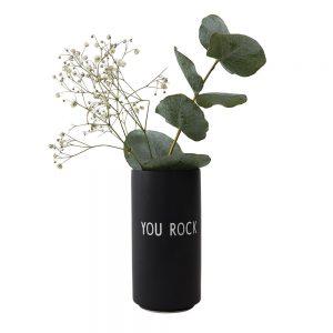 Design Letters - Favoritvase You Rock - Black (10101005BKYOUROCK)