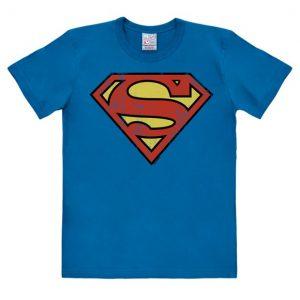 DC - Superman - Logo - Easyfit - azure blue - Original licensed product