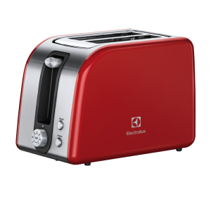 Electrolux - 7000 Series Toaster - Stainless Steel/Red