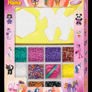 Hama - Midi Open Giftset 7200 beads - Pink (383071)