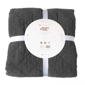 Night & Day - Bedspread Velvet 240x260 cm - Grey (2102)