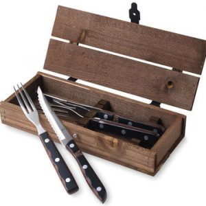 Gense - Old Farmer Classic Steak Cutlery 2 Set - Brown Wood/Steel (704897)