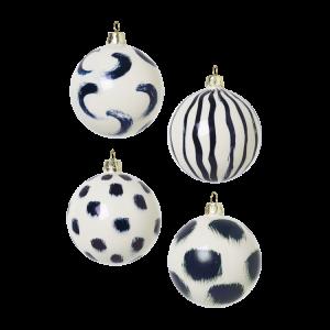 Ferm Living - Christmas Hand Painted Glass Ornaments Set Of 4 pcs - Blue (100602401)