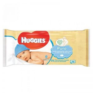 Huggies - Pure Baby Wipes 56 Pcs