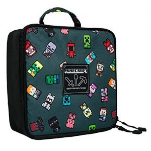 Minecraft Bobble Mobs Lunch Box Gray