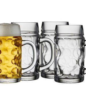 Lyngby Glas - Beer Glass Set of 4 - 0,5 Liter (916246)