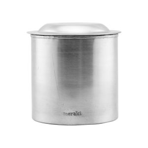 Meraki - Jar With Lid Large - Silver Finish (303820005)