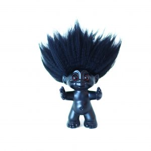 Good Luck Troll - Gjøl Trold 9 cm. - Black/Black (93025)