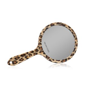 Gillian Jones - Two Sided Hand Mirror in Leopard Print