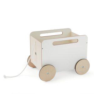 Ooh Noo - Toy Chest Wagon, White (40TC1601 )