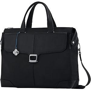 "Samsonite S-Oulite 16 ""Briefcase Medium Black Leather"