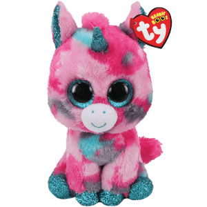 Ty Plush - Beanie Boos - Gumball the Unicorn (Medium) (TY36466)