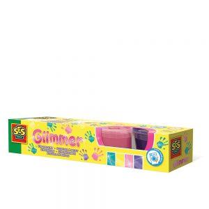 Ses Creative - Glimmer Fingerpaint, 4 x 110 ml (S00314)