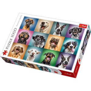 Trefl - Puzzle 1000 pc - Funny Dog Portraits (10462)