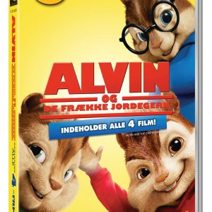 Alvin And The Chipmunks 1-4/Alvin Og De Frække Jordegern 1-4 (4disc) - DVD