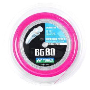Yonex - Badmintonstring BG-80 Pink 200m