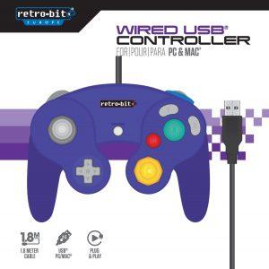 Gamecube Controller Purple USB for PC...