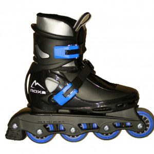 Roxa - Beetle Inliner Rollerblade - Black/Blue (size: 26-31) (1031blueS)