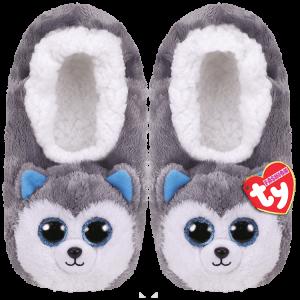 Ty Plush - Slippers - Slush the Husky (Size: 36-38) (TY95362)