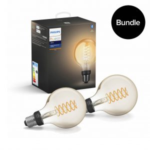Philips Hue - 2x E27 Filament G93 - White - Bluetooth - Bundle
