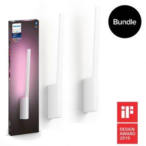 Philips Hue - Liane Wall Light White - White & Color Ambiance - Bluetooth - Bundle
