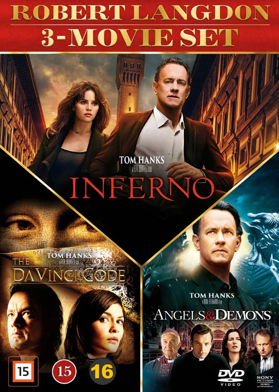 Dan Brown 3-movie set - DVD