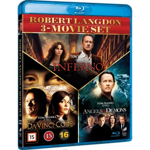 Dan Brown 3-movie set (Blu-Ray)