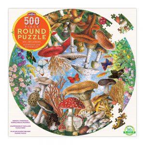 eeBoo - Puzzle - Mushrooms and Butterflies, 500 Pc (EPZFMBU)