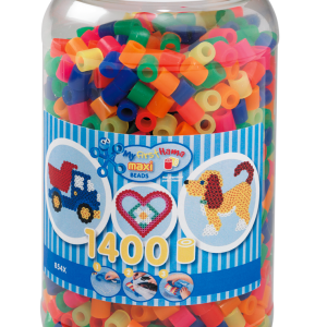 HAMA Beads - Maxi - Beads in tub - 1400 pcs - Neon Mix