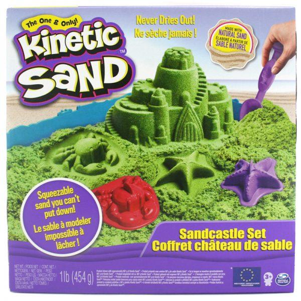 Kinetic Sand - Green Sandcastle Set, 450 g