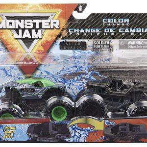 Monster Jam 1:64 2 Pack - Alien Invasion & Soldier Fortune