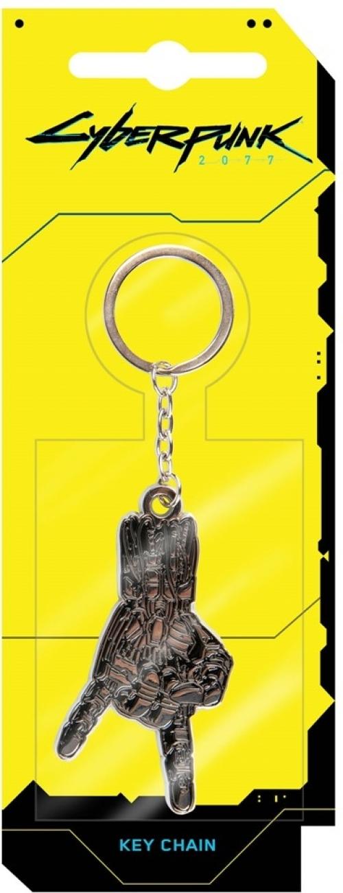 Cyberpunk 2077 Silverhand Metal Keychain Silver