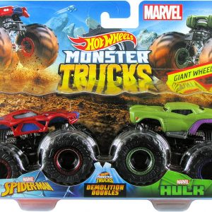 Hot Wheels - Monster Trucks 2 pack - Spider-man vs. Hulk