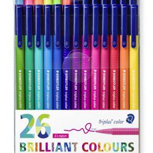 Staedtler - Triplus brilliant colour, 26 pcs (323 TB26)