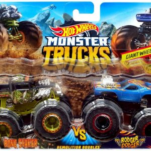 Hot Wheels - Monster Trucks 2 pack - Bone Shaker vs. Rodger Dodger