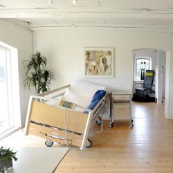 Hospitals-/plejeseng med side-kip