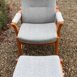 Farstrup hvilestol med skammel