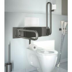 Toiletstøtte med toiletrulleholder - 1 stk